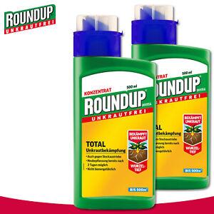 Roundup Universal Unkrautfrei 2 x 500 ml Total Unkrautbekämpfung Glyphosat