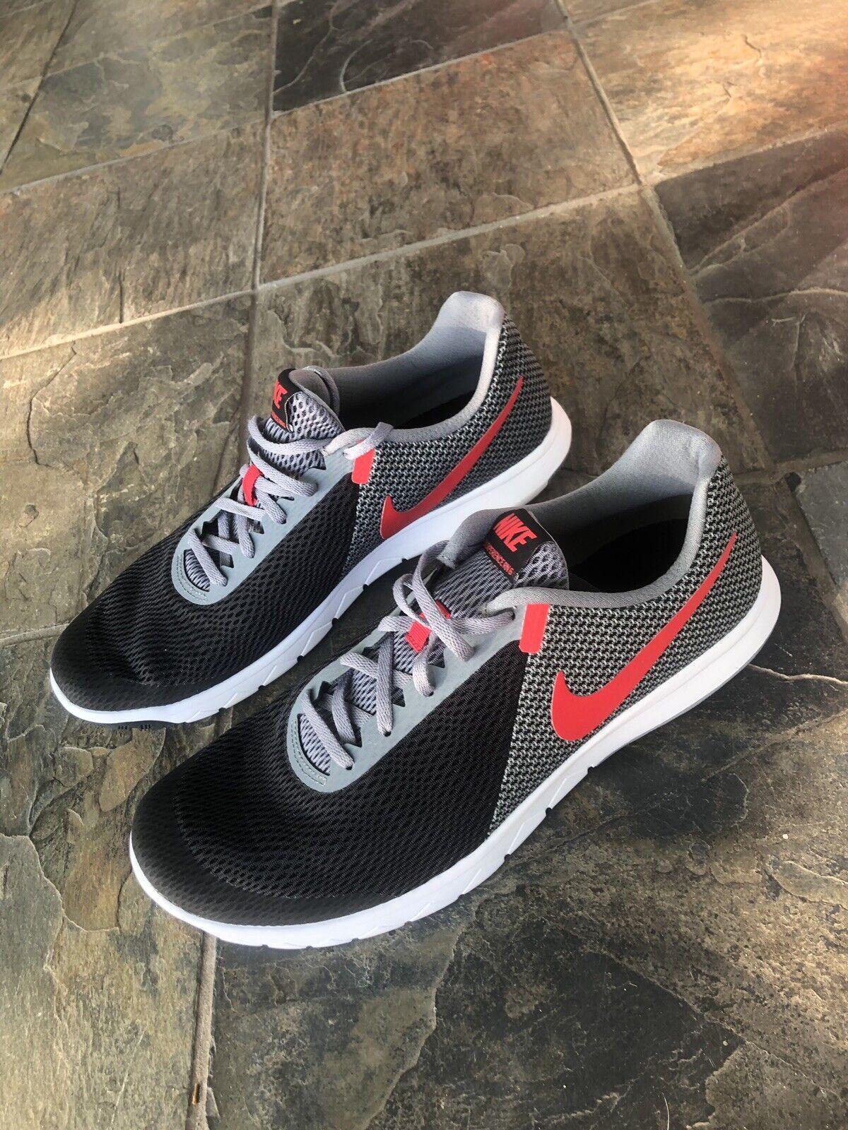 Nike Air Flex Experience RN 6 shoes Mens sz 12 Black Grey Red 881802 011 Running