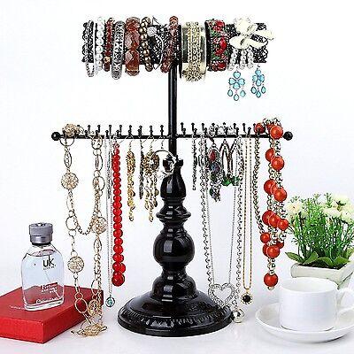 Hanging Jewelry Organizer Black Stand Necklace Holder Tree Storage Teen College