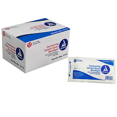 1 (NEW) BOX of Dynarex (Sterile) Stretch Conforming Gauze Bandages