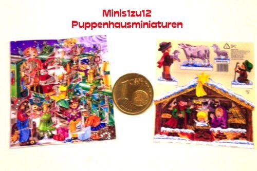 9001# Advent Calendario con sportelli per aprire-casa delle bambole-bambole Tube-M 1zu12