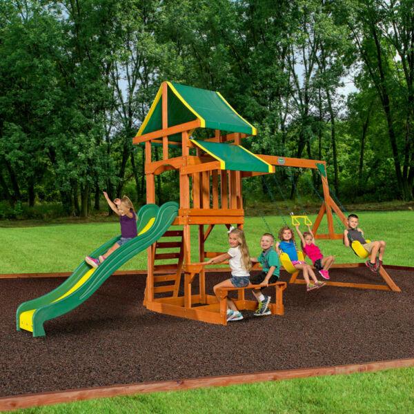 Big Backyard Kidkraft Windale Wooden Cedar Swing Set for ...