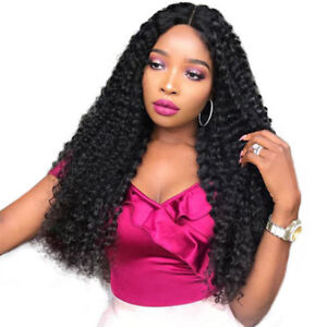 Noble Trendy Lace Front Wig Black Curly Long 250% Density Women Wig ... 3ed862fdd