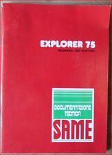 Same Explorer 75 Bedienung und Wartung