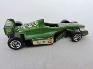 Hot-Wheels-De-Coche-De-Carreras-Vintage-Juguete-Indy-Race-Car-7-Mcdonalds-Verde-2000-Jaguar