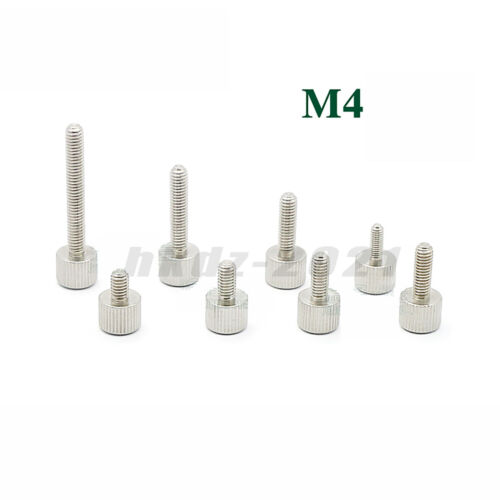 M4*6~30 PC Computer Case Thumb Screw Knurled Hand Grip Knob Bolt Stainless Steel