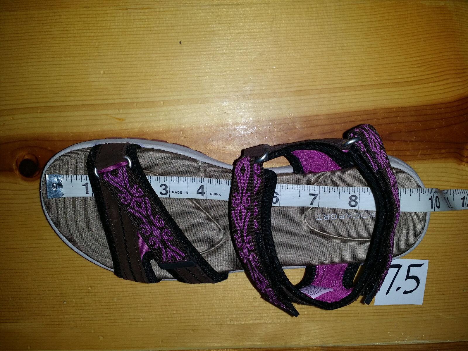 80 Donna 7.5 Rockport XCS RSLS Web Strap Qtr Strap Web Sandal ADIPRENE Technology Pink B ece2fc