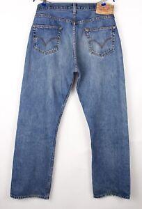 Levi's Strauss & Co Herren 501 Gerades Bein Jeans Größe W36 L32 BCZ14