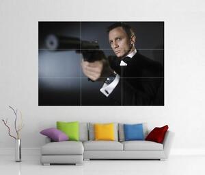 Image is loading JAMES-BOND-007-SKYFALL-DANIEL-CRAIG-SUPERCAR-GIANT-  sc 1 st  eBay & JAMES BOND 007 SKYFALL DANIEL CRAIG SUPERCAR GIANT WALL ART PRINT ...