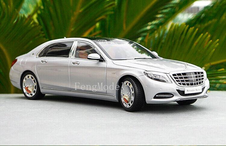 Échelle 1 18 Mercedes-Benz Classe S S600 modèle de voiture collection et décoration argent
