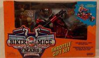 Biker Mice From Mars Throttle Gift Set Chromotanium Martian Monster Bike Sealed