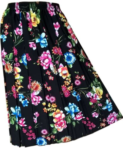 New Ladies Floral Pleated Skirt For The Older Lady Skirts For Elderly Women