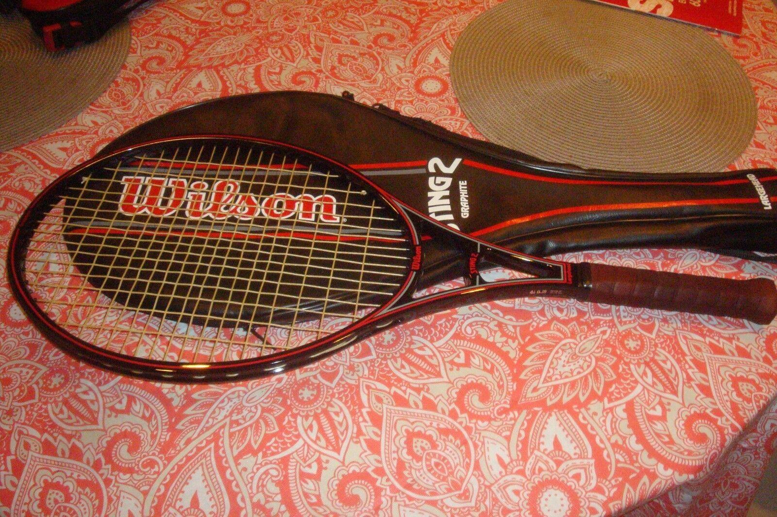 Wilson Sting 2 Largehead Graphite Tennis Racquet 4 1 4  Grip & Case  NEAR MINT