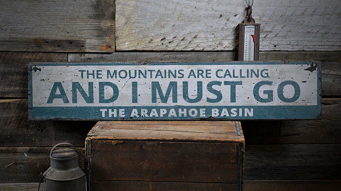 Mountains Calling Sign, Mountain Saying Sign -Distressed Wooden Sign ENS1002000