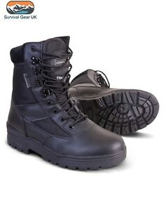 Sizes Black Boot Leather Cadet All Tactical Patrol Army New Combat Military Half BpTwqCzY