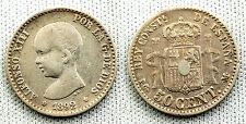 VARIANTE 50 CENTESIMI 1892 9-2 STELLA 9 SU 8 RETTIFICA MOLTO CHIARA RARE