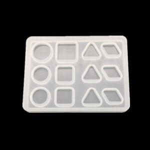 Geometrique-Silicone-Moules-Mold-A-faire-soi-meme-Resine-Artisanat-Bijoux-Pendentif-Making-Tools