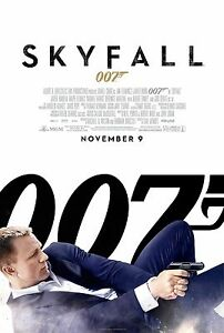 JAMES BOND 007 Home Wall Art Print SKYFALL A4,A3,A2,A1 Movie Film Poster