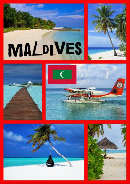 MALDIVES - SOUVENIR NOVELTY FRIDGE MAGNET, SIGHTS / FLAGS / BRAND NEW / GIFTS
