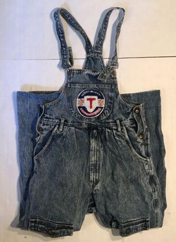 Rare Vintage 80s Troop Jeans Denim Overalls Sz 32