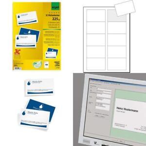 Details Zu Sigel Lp850 Visitenkarten 3c 100 Stück 10 Blatt Beidseitig Bedruckbar Hoch