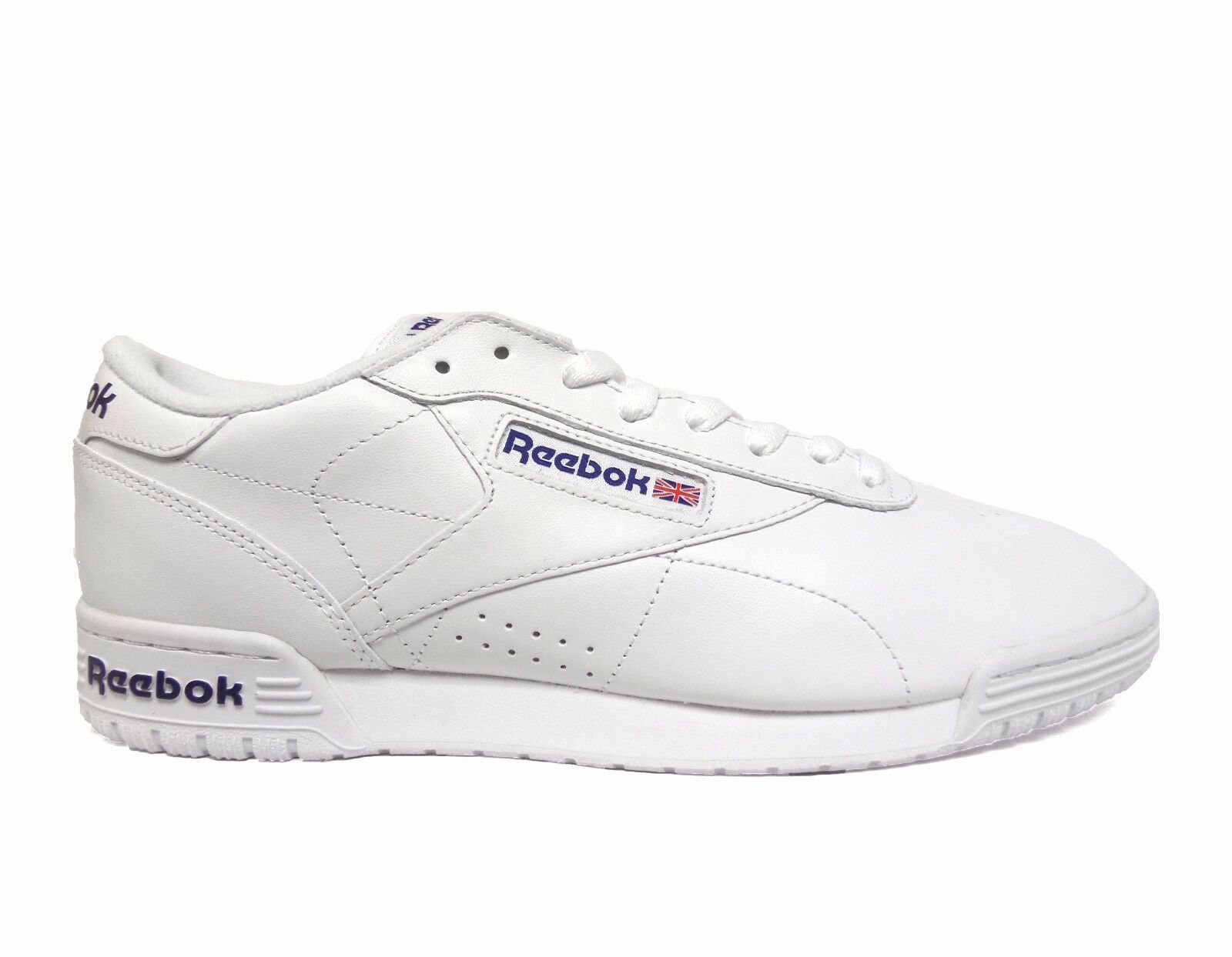 41ee68871887 AR3169 Reebok Exofit Lo Clean Logo Intwhite royal Blue royal Blue ...