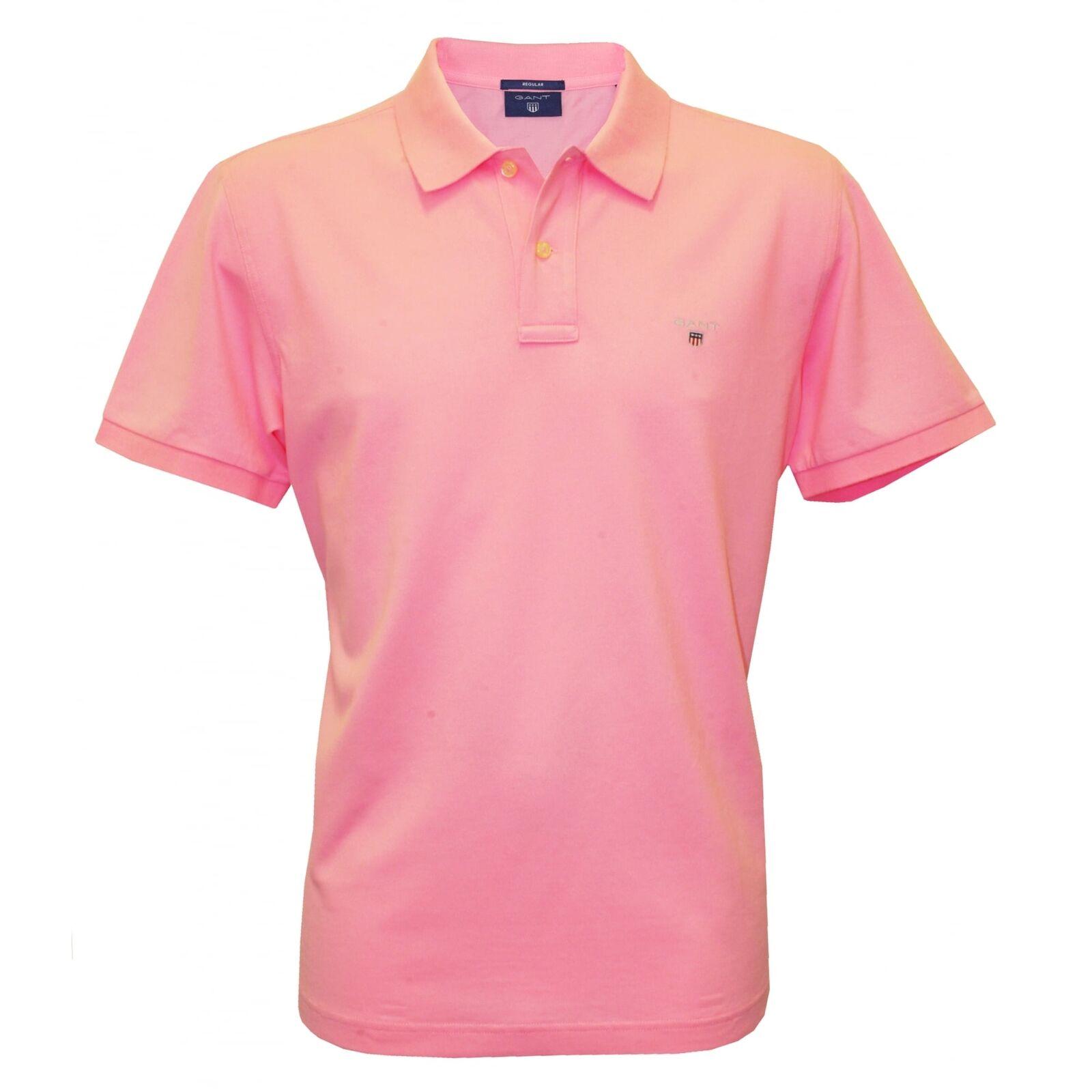 Gant Solid Pique Men's Polo Shirt, Soft pink