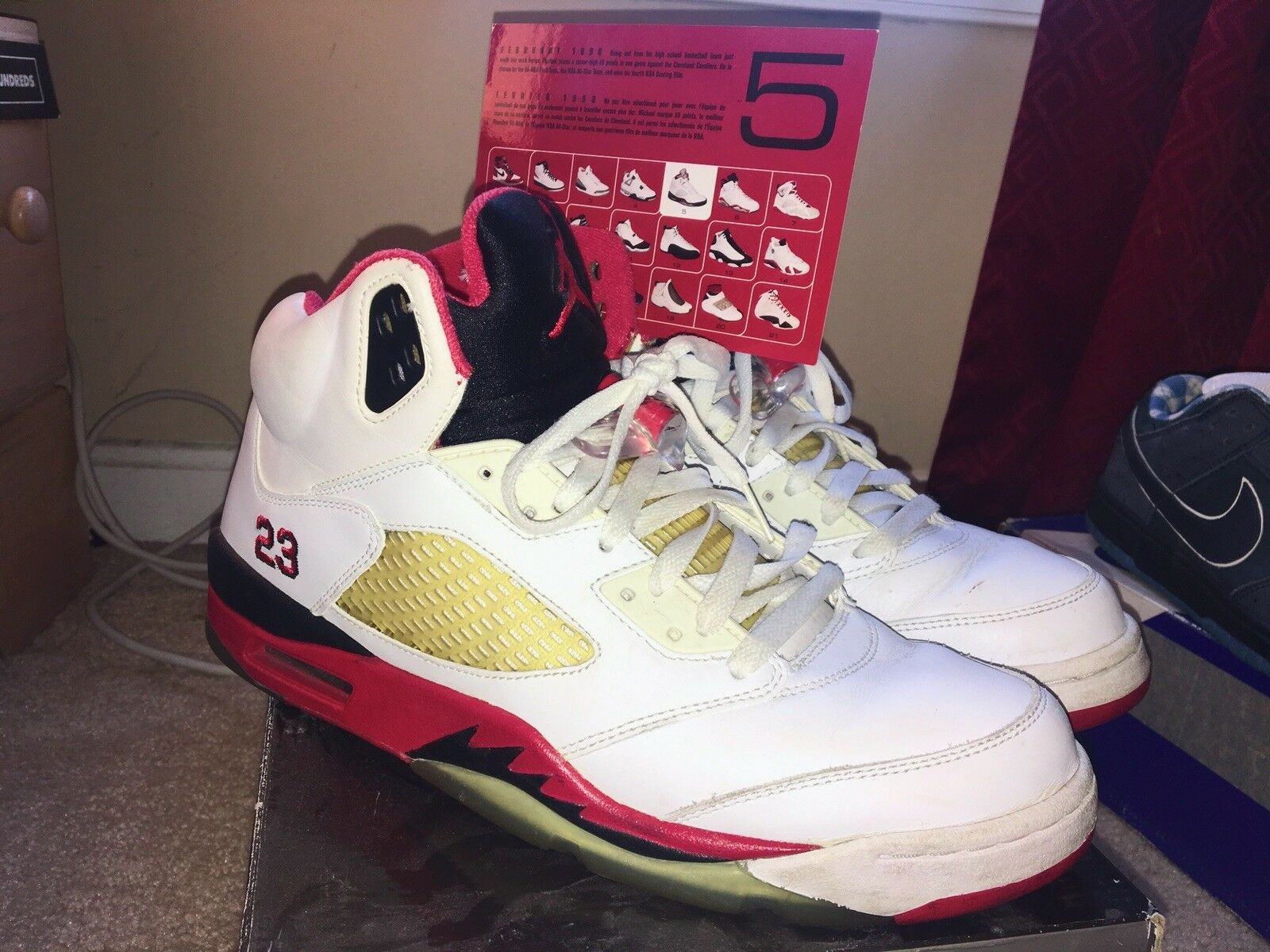 98edacdb004 Jordan Retro 5 2006 Fire 10.5 Men's OG Everything Red Size  nxrvkz1704-Athletic Shoes