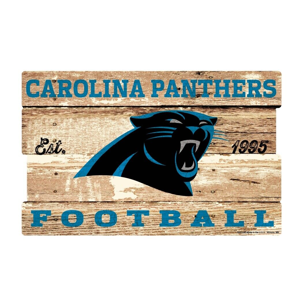 Carolina Panthers XXL SCUDO in legno 76 cm  , NFL Football, Plank Wood sign