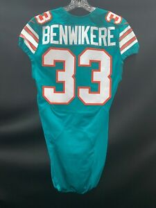 Details about #33 BENE BENWIKERE MIAMI DOLPHINS GAME USED THROWBACK STYLE NIKE JERSEY 2016