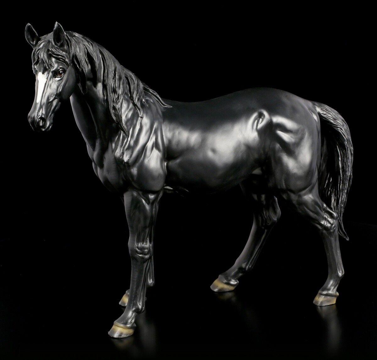 Grande nero Caballos - Figura Pferdestatue Semental Potro