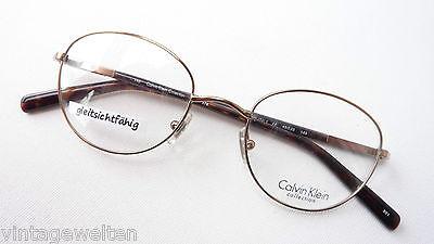 Costante Calvin Klein Pantobrille Metallo Plastica Dezent Rame Marrone Occhiali Misura M.-mostra Il Titolo Originale