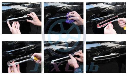 Set ABS Matt Silver Door Handle Cover Trim H For Range Rover Evoque 2012-2018