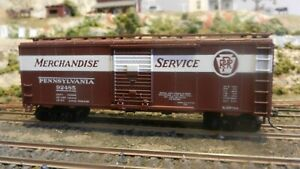 Athearn-Bev-Bel-Ltd-Run-HO-BB-40-039-Boxcar-PRR-Merchandise-Service-Upgraded-Exc