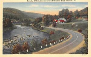 Entering-Wilmington-along-the-Molly-Stark-Trail-Vermont-c1940s-Vintage-Postcard