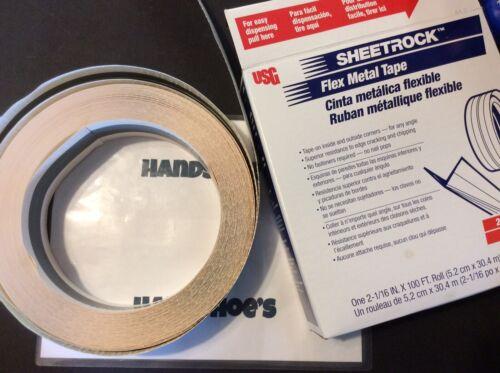 """SHEETROCK 2-1//16/"""" 5,2 cm ROLL OF FLEX METAL TAPE *S4"""