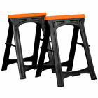 VonHaus Folding Saw Horse Trestle Twin with Rubber Inserts Support Bars Pack Huge 150kg Max Load