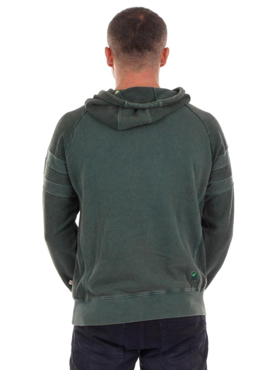 PrimEmotion Sweatpullover Hoodie Hoodie Hoodie Kapuzenshirt grün Tunnelzug Print 5077a3