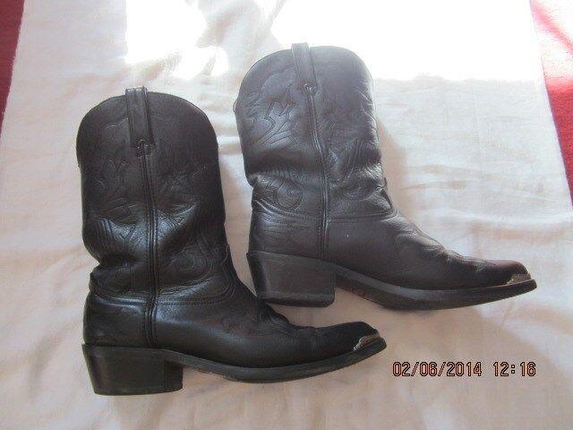 Seminuevo Para hombres D DURANGO De Cuero Negro botas De Vaquero TH750