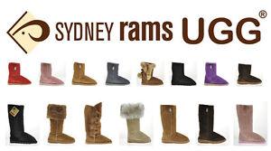 9a64f241b5e BNWT Sydney Rams Women's Men's Classic Short Ugg Boots Aus Made ...