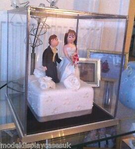 Wedding Cake Topper 6x6x8 152mmx152mmx202mm Glass Display