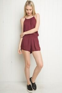 e23e20ae6d7 Image is loading Brandy-melville-Maroon-high-neck-blanche-romper-NWT-