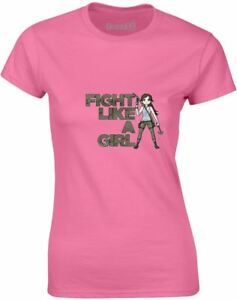 Fight-Like-A-Girl-Motivational-Slogan-Printed-Ladies-T-Shirt-Casual-Women-Tee