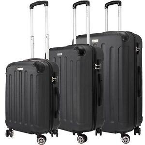 KESSER® 3tlg Reisekoffer Set Trolley Hartschale Hartschalenkoffer Koffer M-L- XL