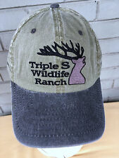 Triple S Wildlife Ranch Oklahoma Baseball Cap Hat Moose Strapback Calvin