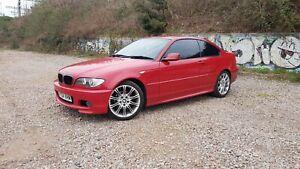 BMW-E46-325ci-M-sport-Rare-Imola-Red-Manual-5-speed-Facelift