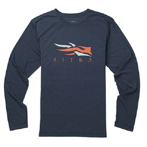 Sitka Logo Tee LS  Ecipse Heather  select from the newest brands like
