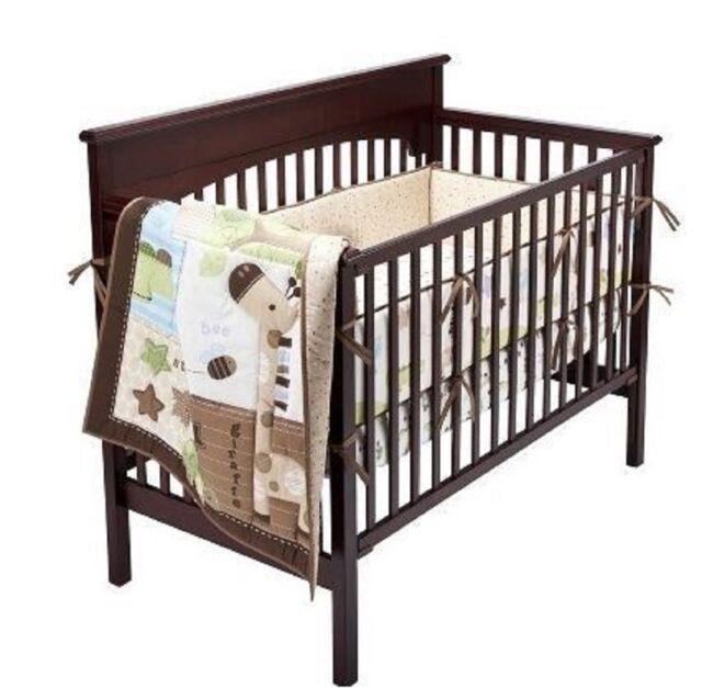 Circo Chomps Nature Neutral Alligator Giraffe Bird Crib Nursery Bedding Set New