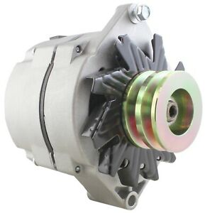 Universal Alternator Tractor /& GM 1-Wire One Wire 2 Groove Pulley 63 Amp 12V