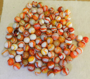 #10697m Vintage Group or Bulk Lot of 100 Peltier Marbles .57 to .67 Inches